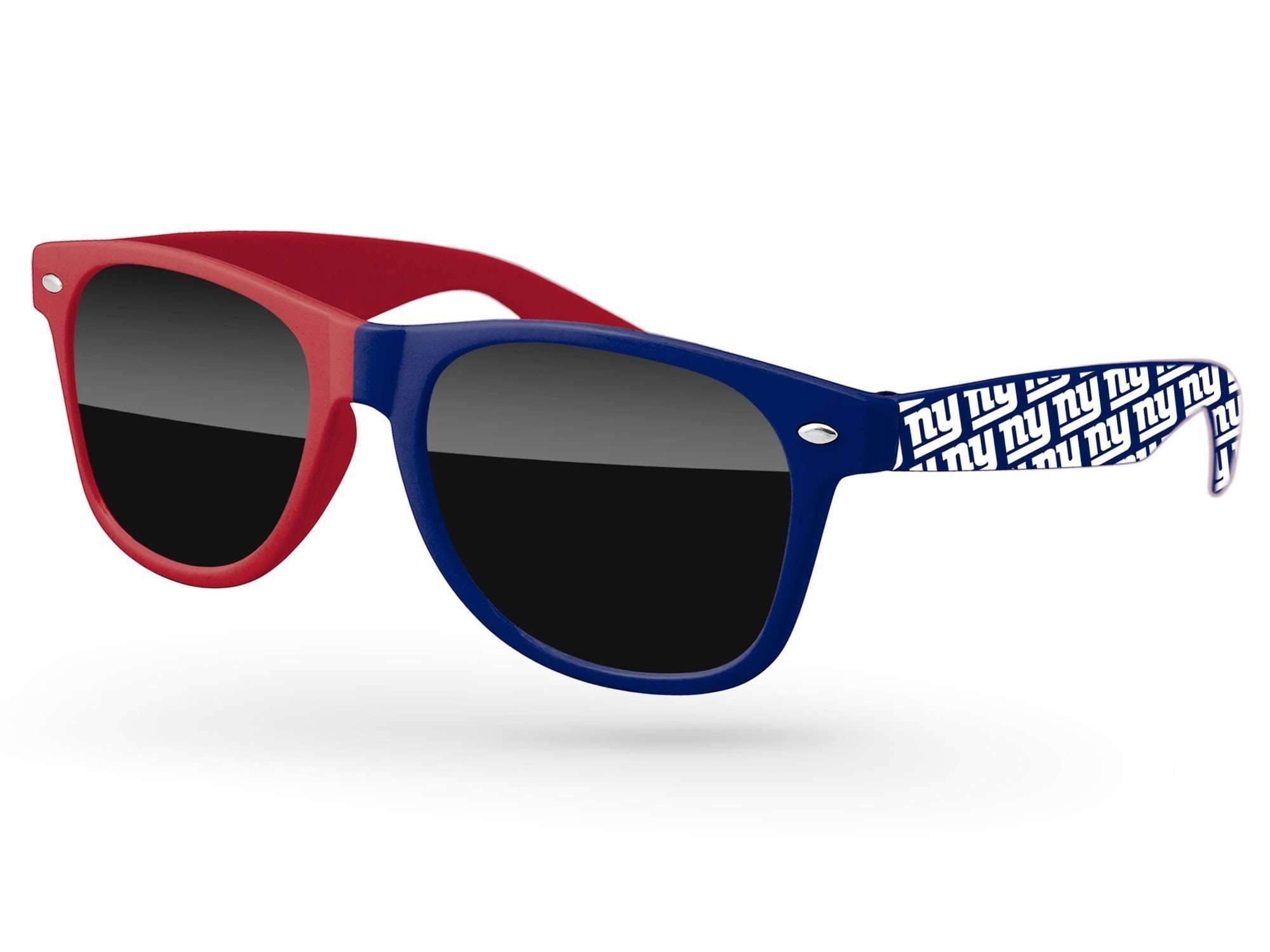 RD035 - Split-tone Retro Promotional Sunglasses w/ 1-color extended arms imprint
