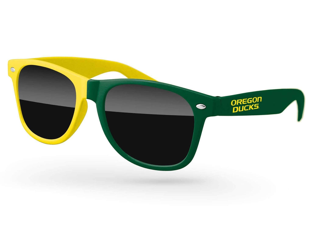 RD015 - Split-tone Retro Promotional Sunglasses w/ 1-color temple imprint