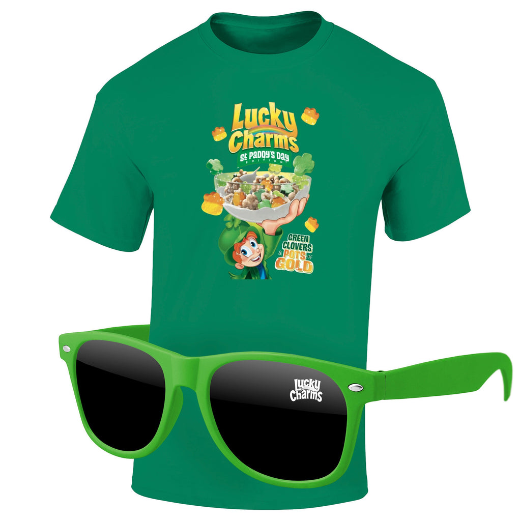 St Patrick's Day 4980-1KD12 - T-Shirt & Sunglasses Kit - Full-Color On Color/Black T-Shirt (Up To 12x12in)