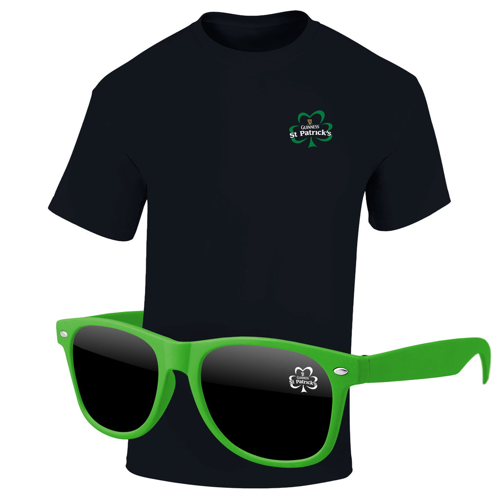 St Patrick's Day 4980-1KD05 - T-Shirt & Sunglasses Kit - Full-Color On Color/Black T-Shirt (Up To 4x4in)