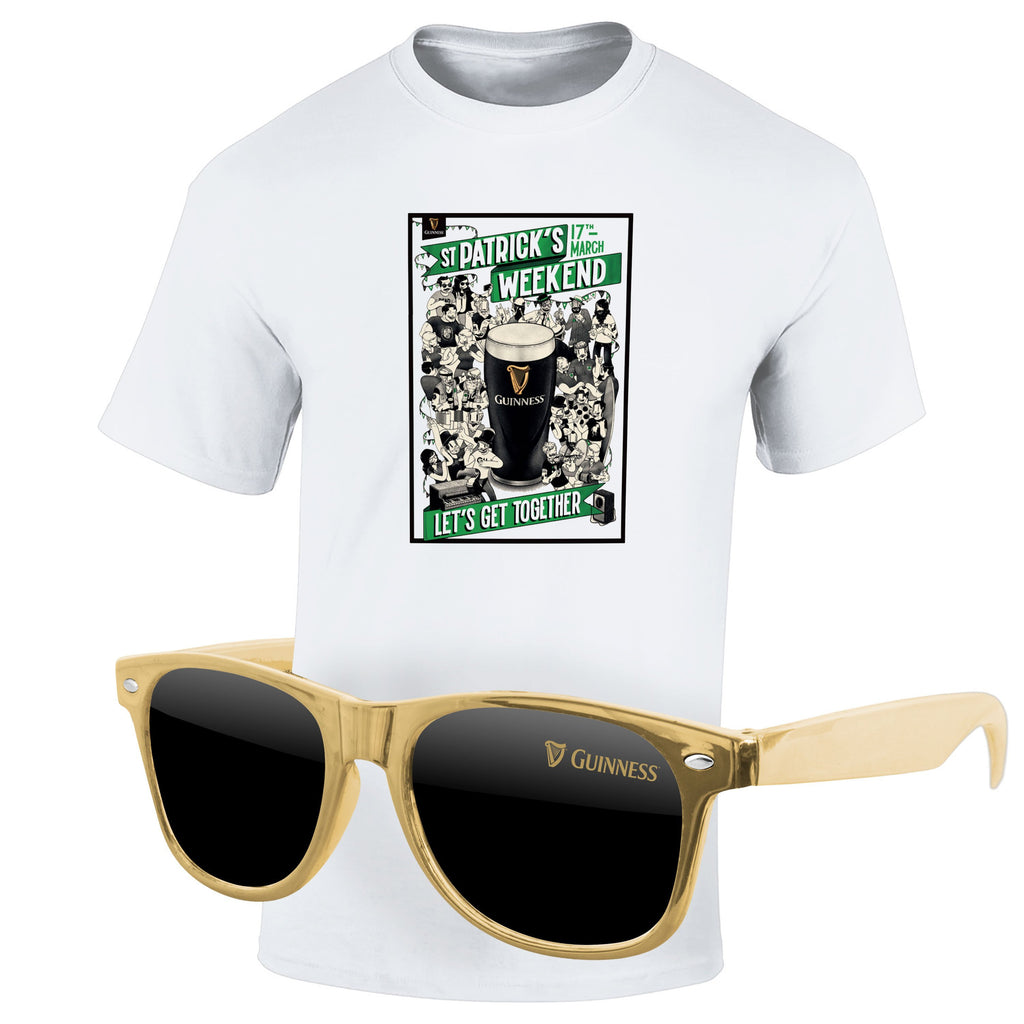 St Patrick's Day 4980-1KL12-M - T-Shirt & Sunglasses Kit - Full-Color On White/Very Light T-Shirt (Up To 12x12in)