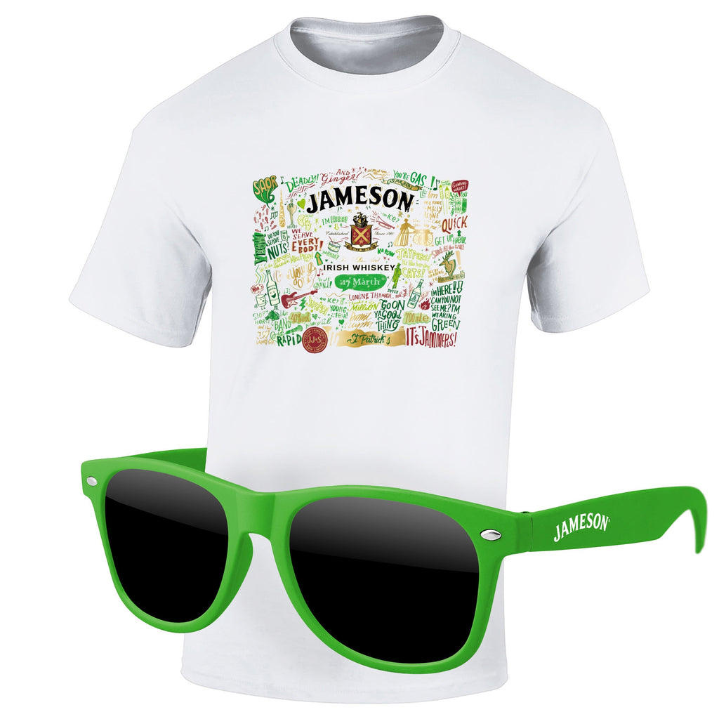 St Patrick's Day 4980-1KL12 - T-Shirt & Sunglasses Kit - Full-Color On White/Very Light T-Shirt (Up To 12x12in)