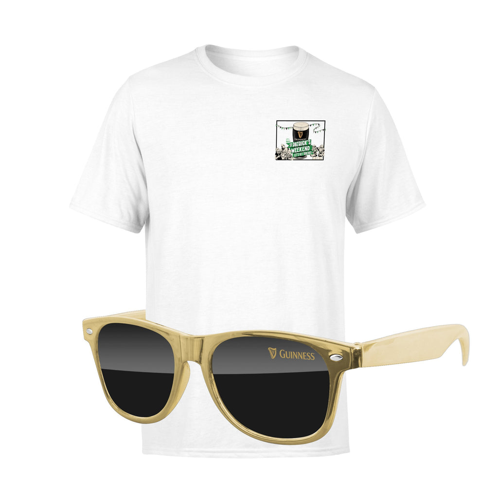 St Patrick's Day 4980-1KL05-M - T-Shirt & Sunglasses Kit - Full-Color On White/Very Light T-Shirt (Up to 4x4in)