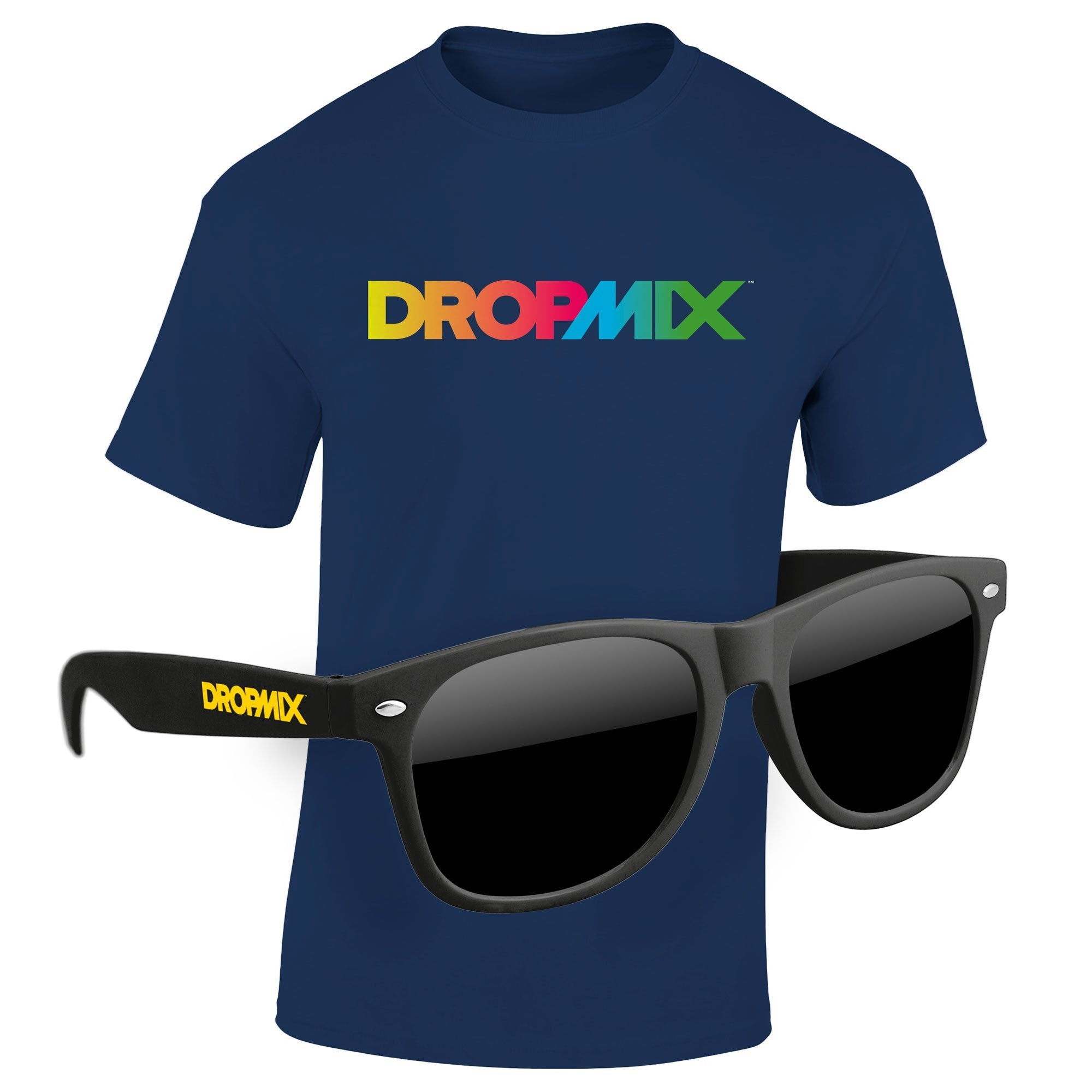"T-Shirt & Sunglasses Kit - Full-Color On Color/Black T-Shirt (Up To 12"" x 12"")"