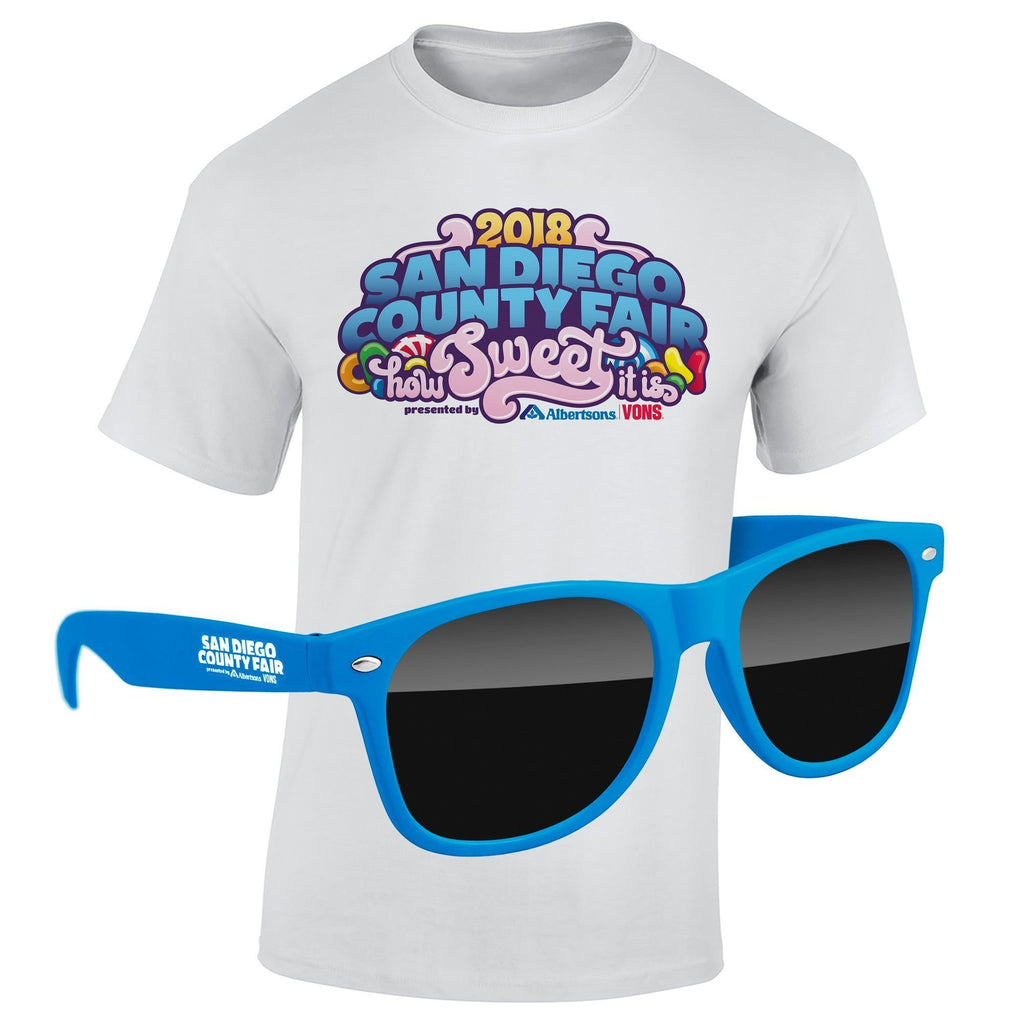 "T-Shirt & Sunglasses Kit - Full-Color On White/Very Light T-Shirt (Up To 12"" x 12"")"