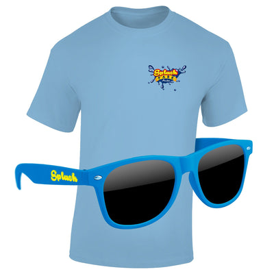 T-Shirt & Sunglasses Kit - Full-Color On Color/Black T-Shirt (Up To 5x5in)