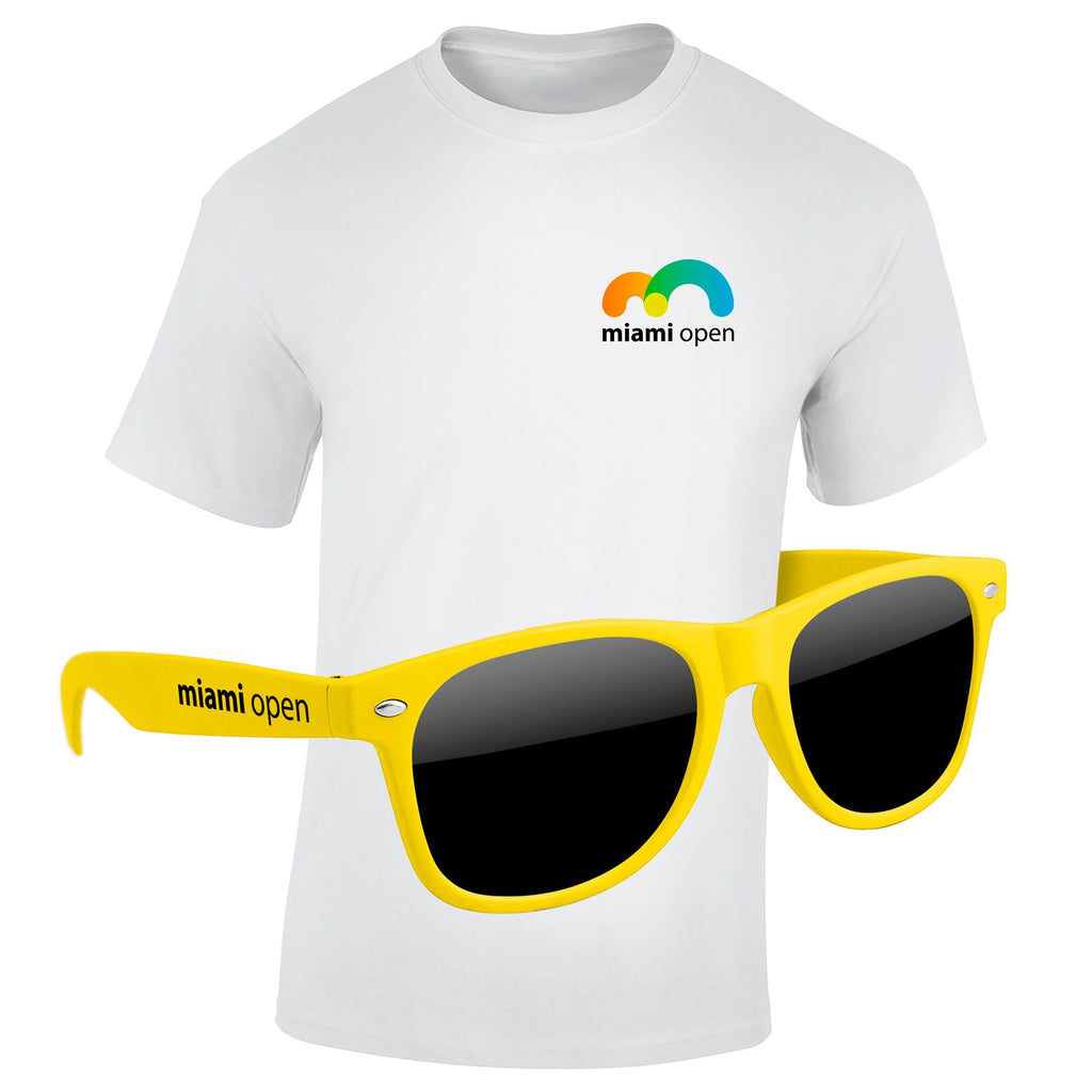 4980-1KL04 - T-Shirt & Sunglasses Kit - Full-Color On White/Very Light T-Shirt (Up to 4x4in)