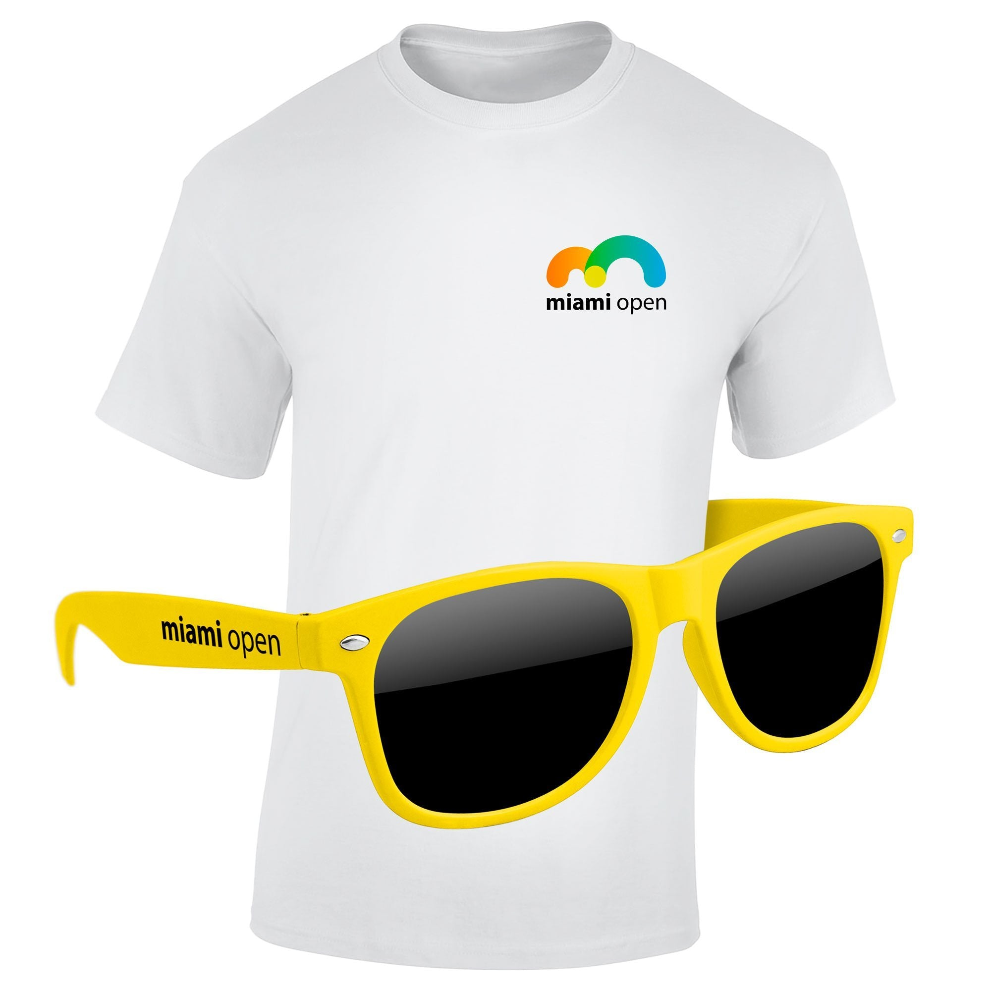 "4980-1KL04 - T-Shirt & Sunglasses Kit - Full-Color On White/Very Light T-Shirt (Up to 4""x4"")"
