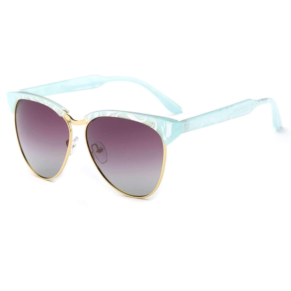 7042 - Teardrop Shaped Gradient Lens Retro Club Sunglasses