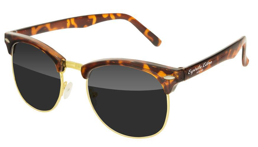 UD010-T - Tortoise Metal Club Promotional Sunglasses w/ 1-color temple imprint