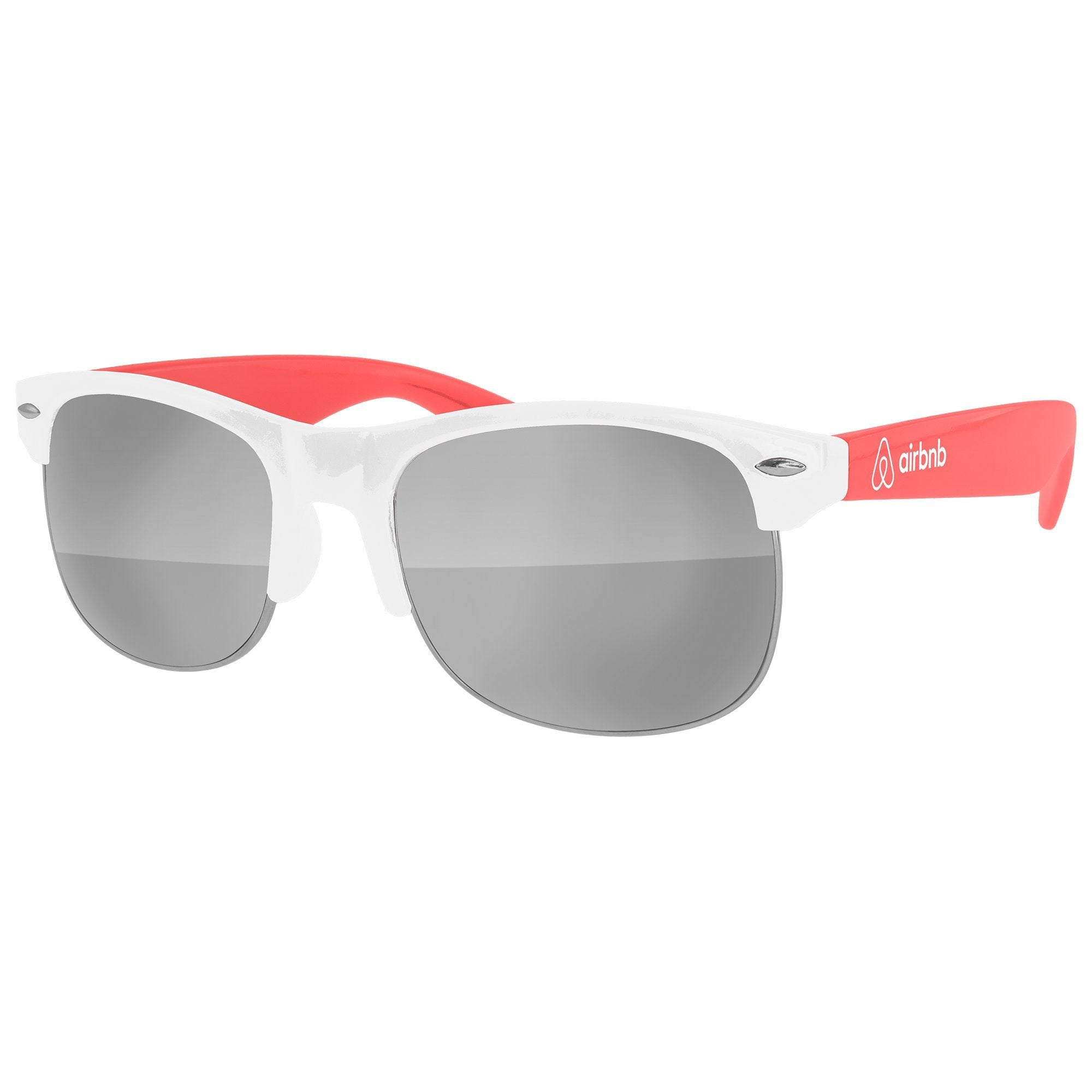 Travel - CM012 - 2-tone Club Mirror Promotional Sunglasses w/ 1-color temple imprint