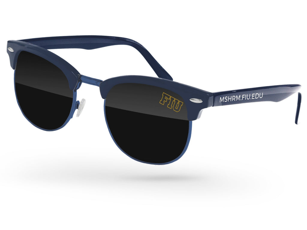UD510 - Metal Club Promotional Sunglasses w/ 1-color lens imprint & 1-color temple imprint