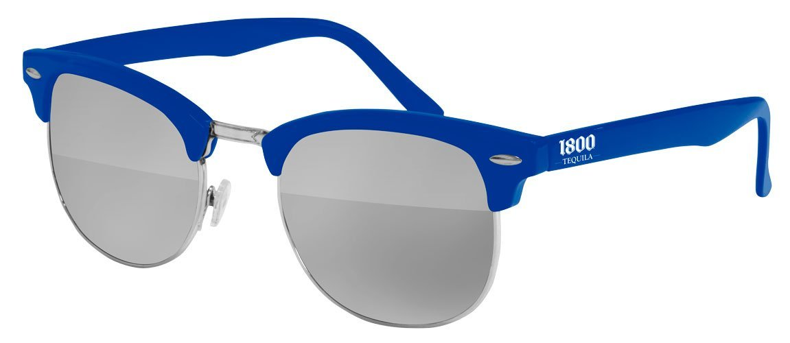 UM010 - Metal Club Mirror Promotional Sunglasses w/ 1-color temple imprint