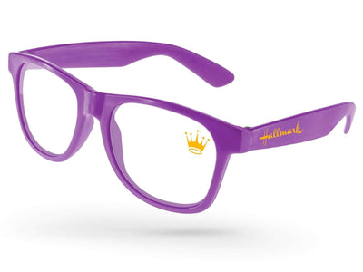 Value Retro Eyeglasses w/ 1-color lens & temple imprints