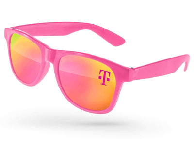 Value Retro Mirror Promotional Sunglasses w/ 1-color lens imprint