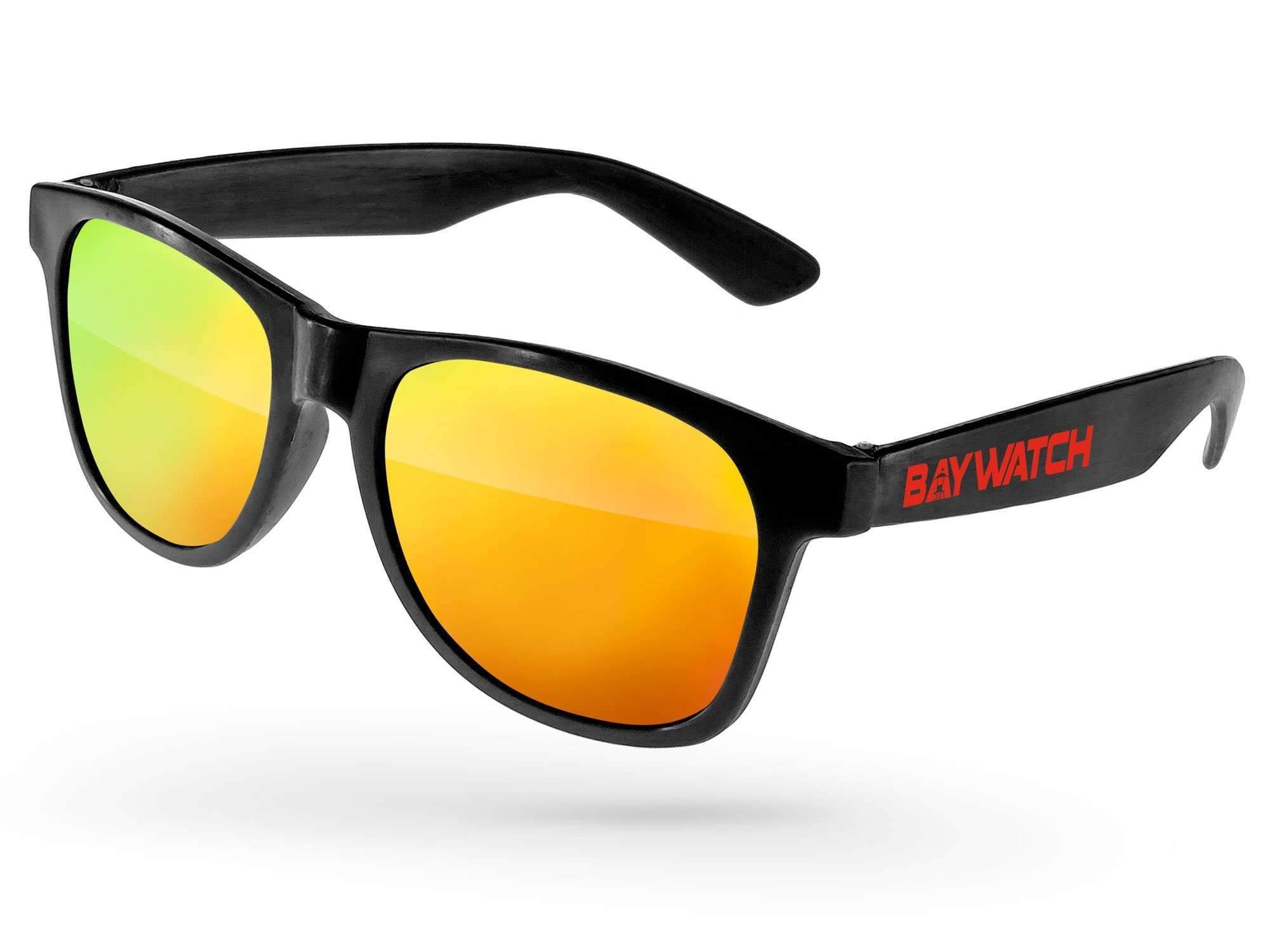 RM010-P - Value Retro Mirror Promotional Sunglasses w/ 1-color temple imprint