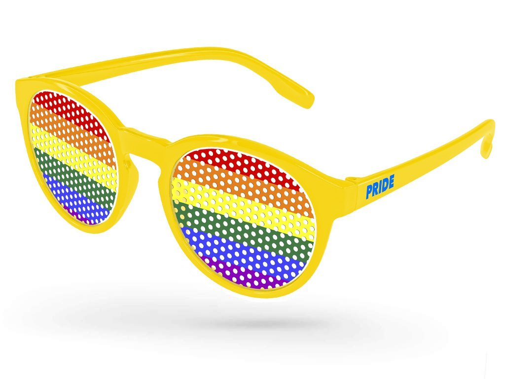 VC110 - Pride Vicky Pinhole Promotional Sunglasses w/ 1-color temple imprint