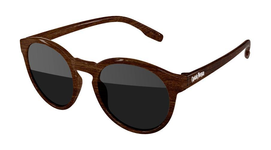VD010-W - Faux-Wood Vicky Promotional Sunglasses w/ 1-color temple imprint