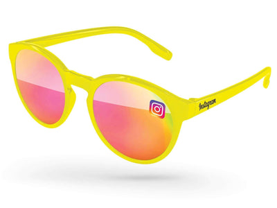 Vicky Mirror Promotional Sunglasses w/ full-color lens imprint & 1-color temple imprint