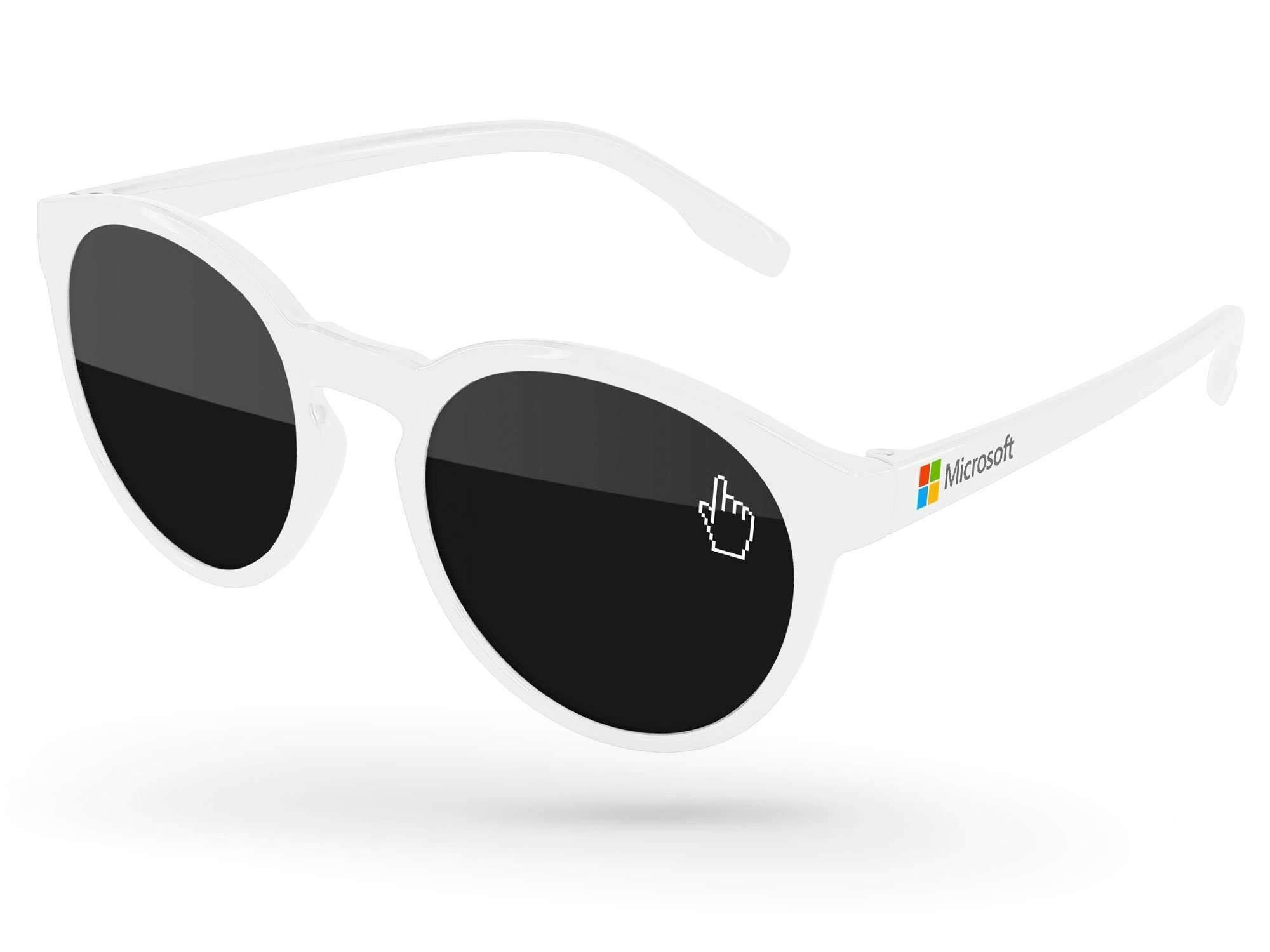 VD520 - Vicky Promotional Sunglasses w/ 1-color lens imprint & full-color temple imprint