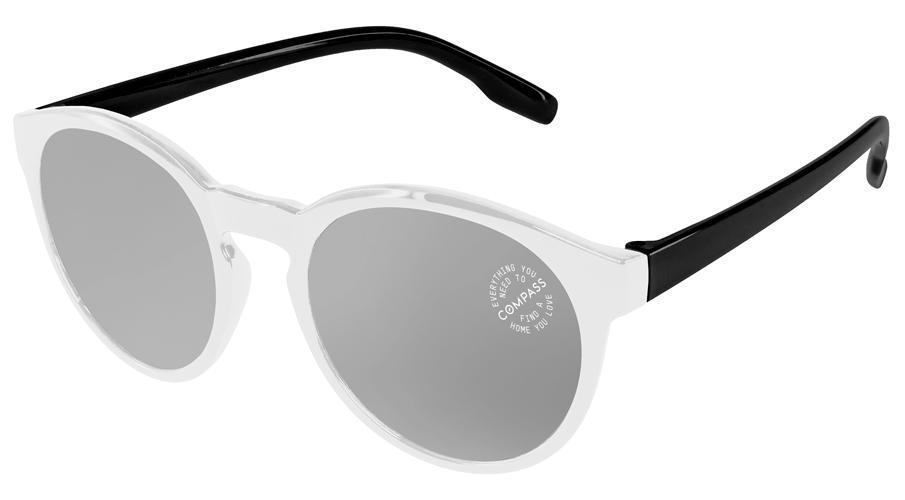 VM502 - 2-Tone Vicky Mirror Promotional Sunglasses w/ 1-color lens imprint