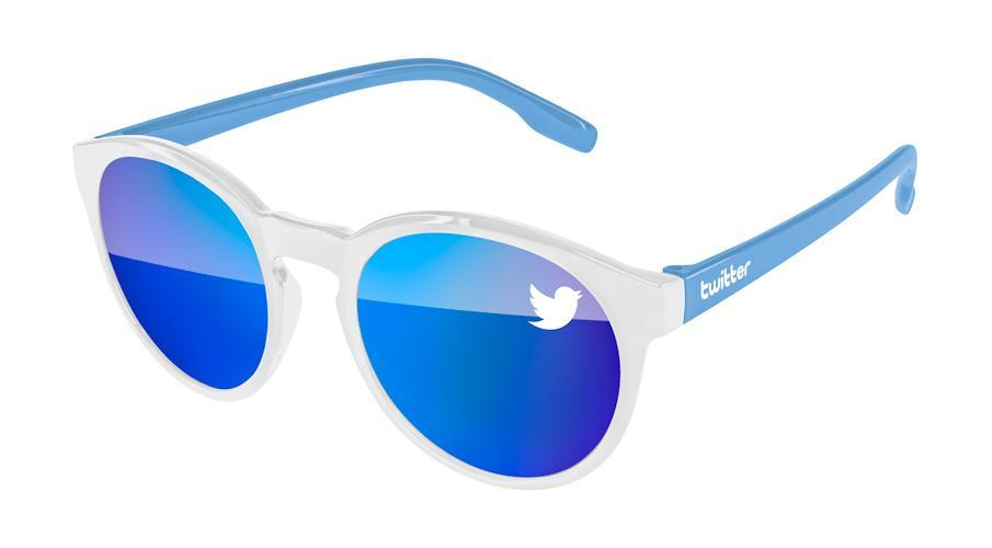 VM512 - 2-Tone Vicky Mirror Promotional Sunglasses w/ 1-color lens imprint & 1-color temple imprint