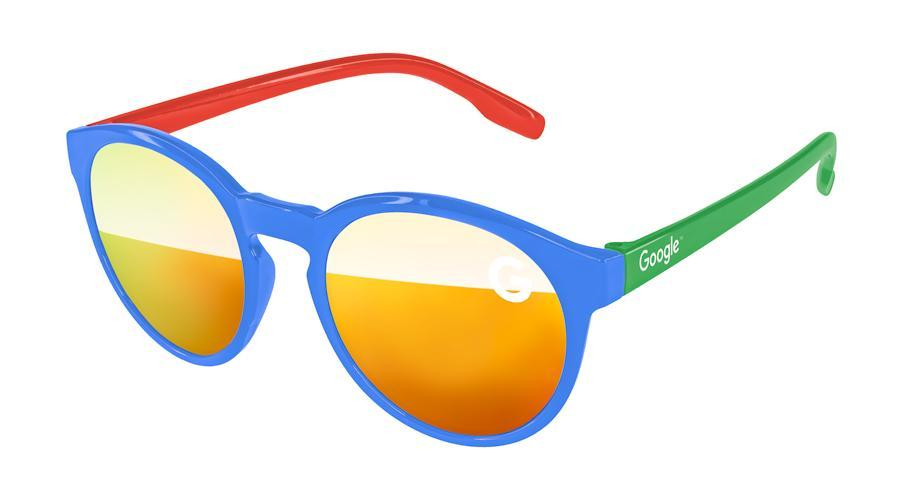 VM513 - 3-Tone Vicky Mirror Promotional Sunglasses w/ 1-color lens imprint & 1-color temple imprint