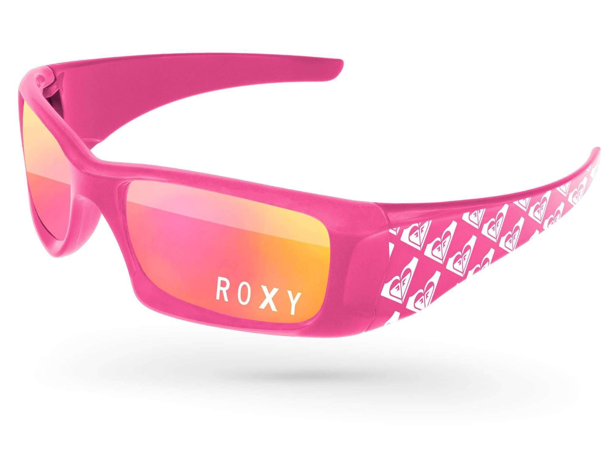 Wrap Mirror Promotional Sunglasses w/ 1-color lens imprint & 1-color extended arms imprint