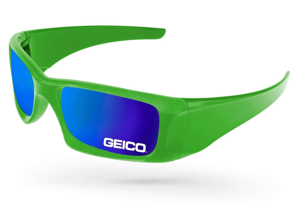 WM500 - Wrap Mirror Promotional Sunglasses w/ 1-color lens imprint