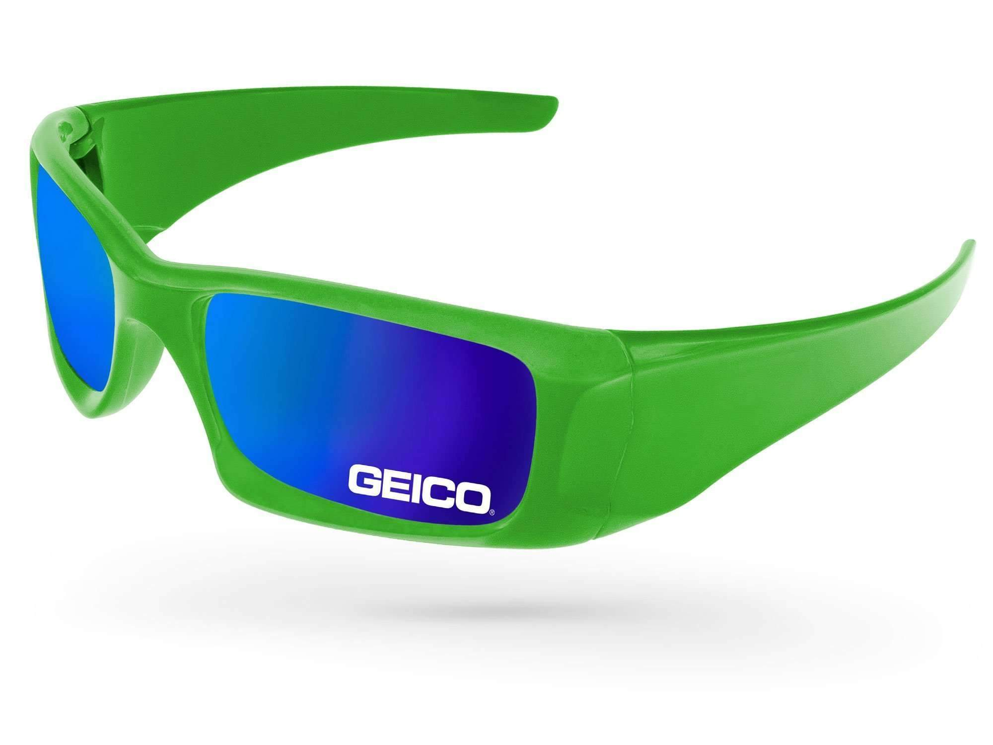 Wrap Mirror Promotional Sunglasses w/ 1-color lens imprint