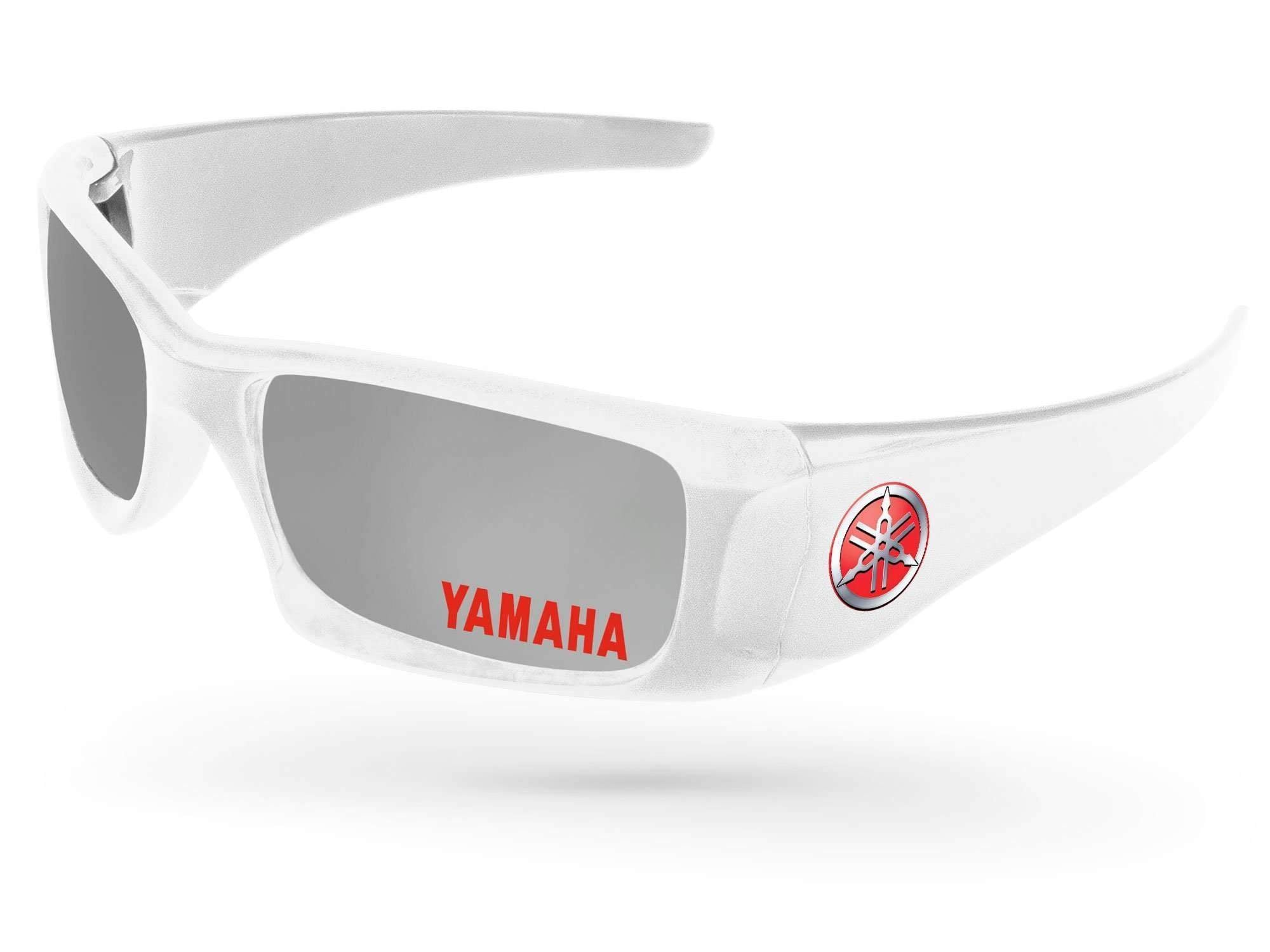 Wrap Mirror Promotional Sunglasses w/ 1-color lens imprint & full-color temple imprint