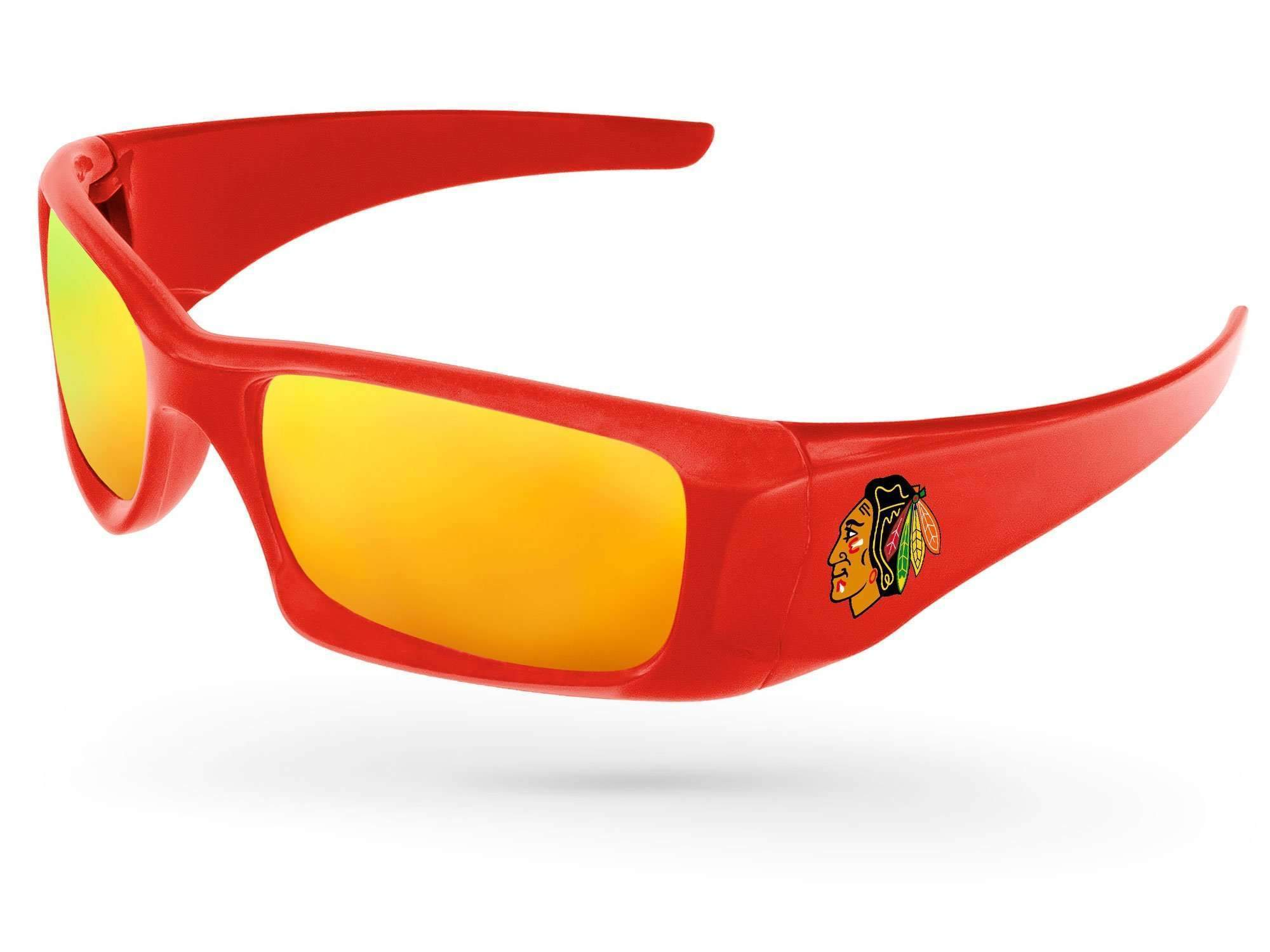 Wrap Mirror Promotional Sunglasses w/ full-color temple imprint