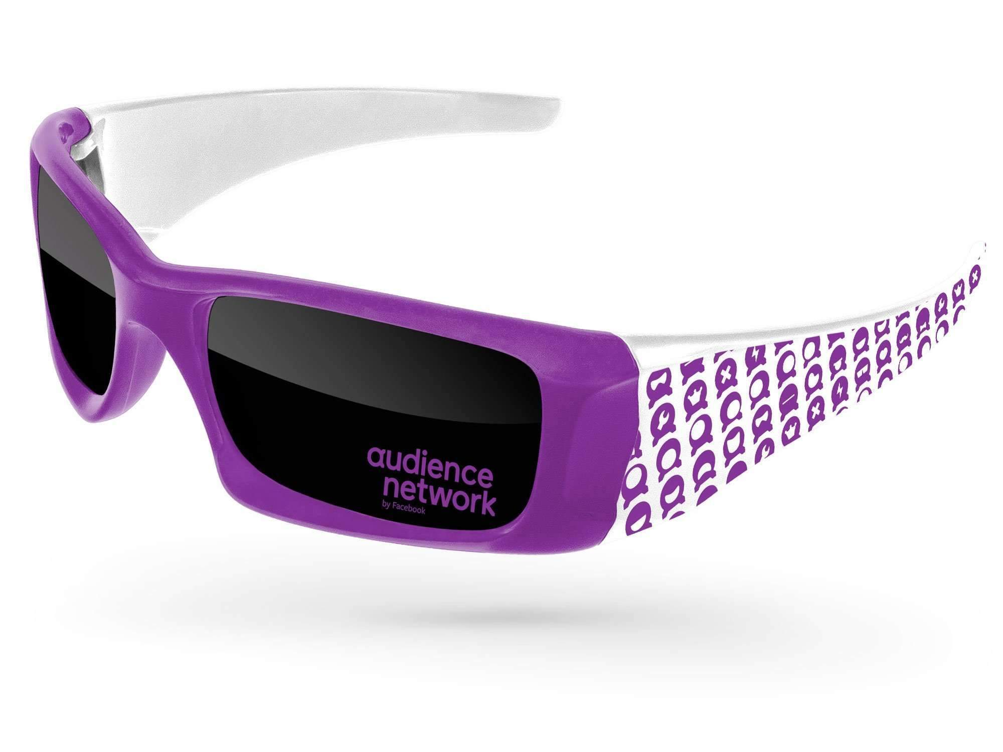 WD532 - Wrap Promotional Sunglasses w/ 1-color lens imprint & 1-color extended arm imprint