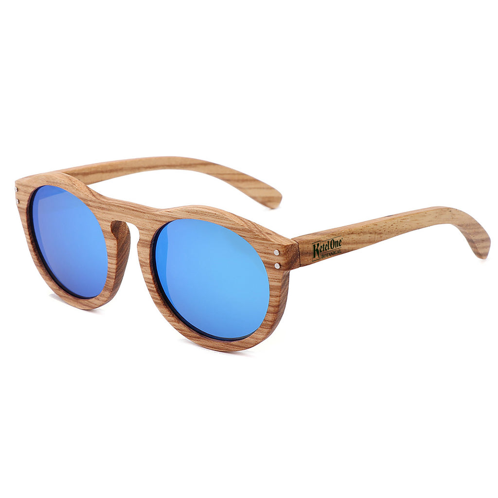Zebra Wood Mirrored- Promotional Sunglasses w/1 color imprint