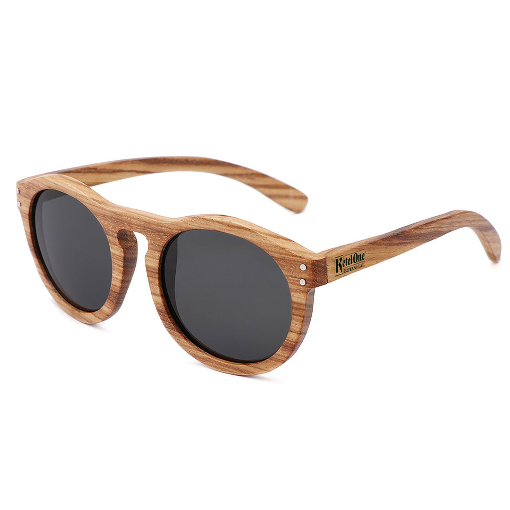 Zebra Wood - Promotional Sunglasses w/1 color imprint