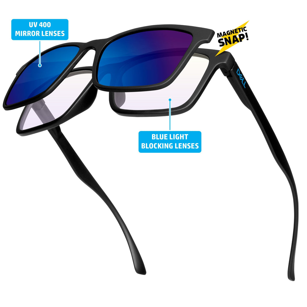 ZM010 - Blue Light Blocking Duo Frame W/ Snap Lens and 1-color imprint