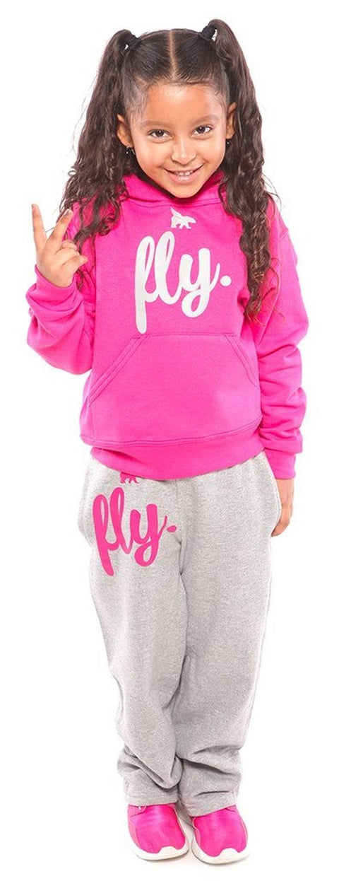 Fly Kids Comfort: Pink/Grey