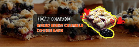 How to make Mixed Berry Crumble Cookie Bars
