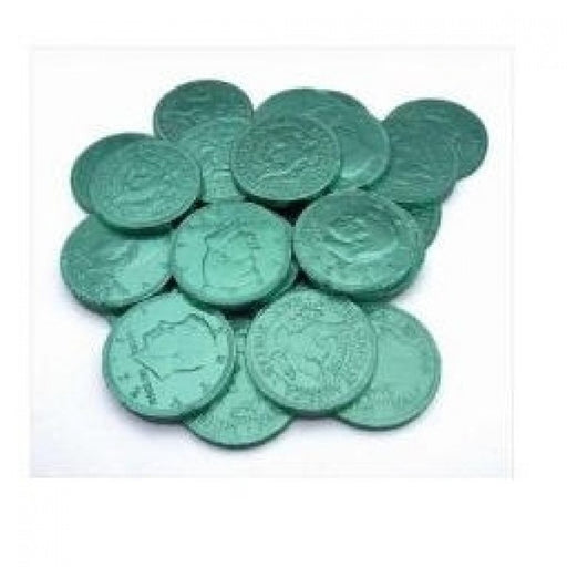 Green Chocolate Coins 'Pack Of 160' - Chocolate.org