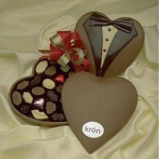 Edible Chocolate Heart Box