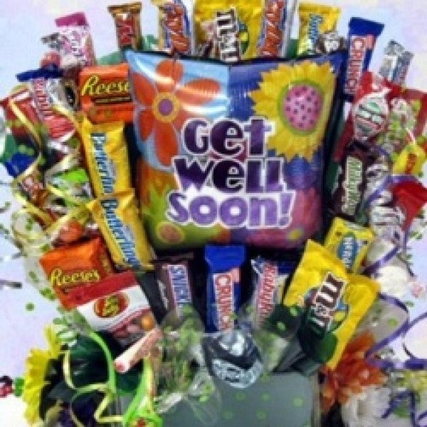 Cheerful Wishes Get Well Chocolate Gift Basket - Chocolate.org
