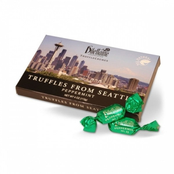 Peppermint Truffle Creme Seattle Skyline 4 Oz Box PACK Of 4