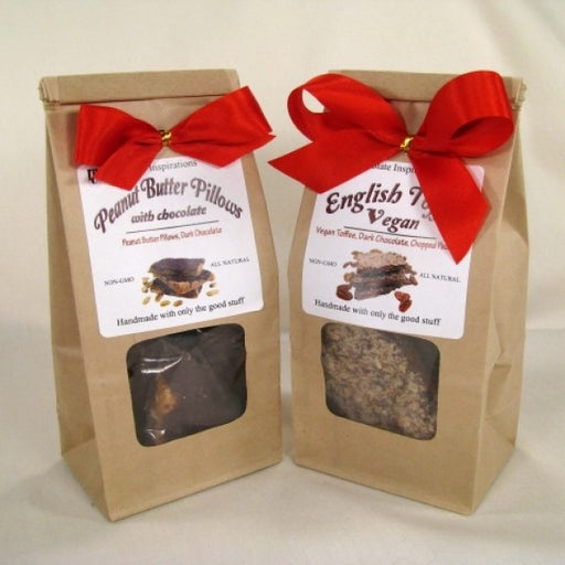 Vegan Dairy Free  Candy Bags English Toffee And Peanut Butter Pillows w/Chocolate