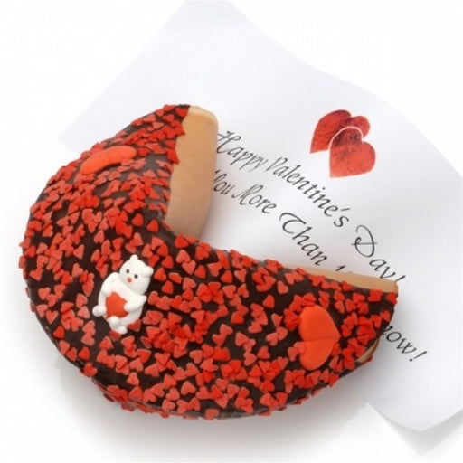 Valentine Decorated Dark Chocolate Giant Fortune Cookie