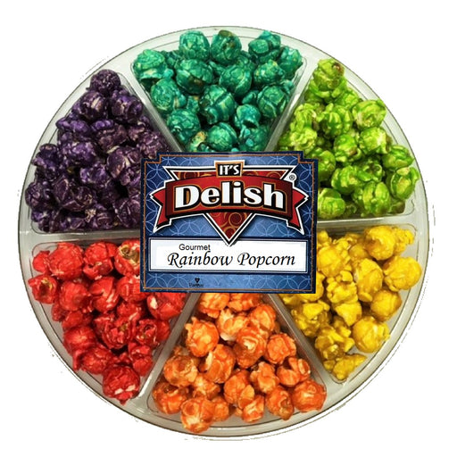 GOURMET RAINBOW POPCORN GIFT TRAY 6 SECTION