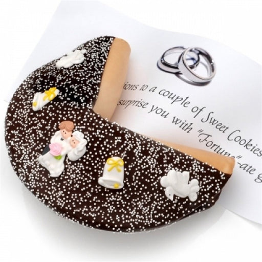 Wedding Dark Chocolate Giant Fortune Cookie - Chocolate.org