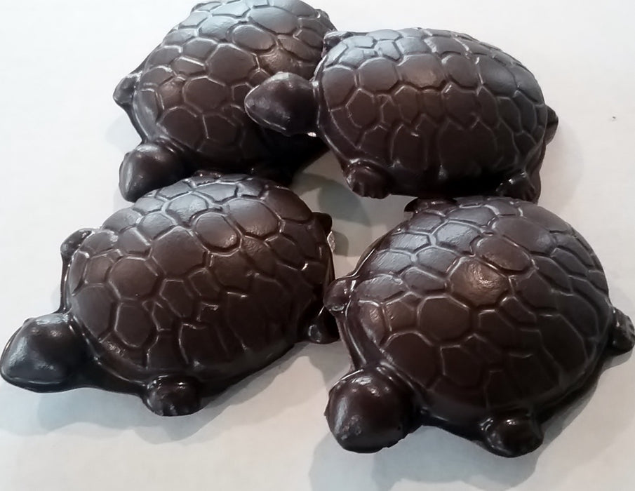 Cashew Caramel Turtles Dark or Milk Chocolate / ALL NATURAL / 6 count - Chocolate.org