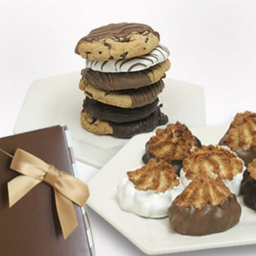 6 Chocolate Covered Macaroons And 6 Gourmet Cookies Gift Box