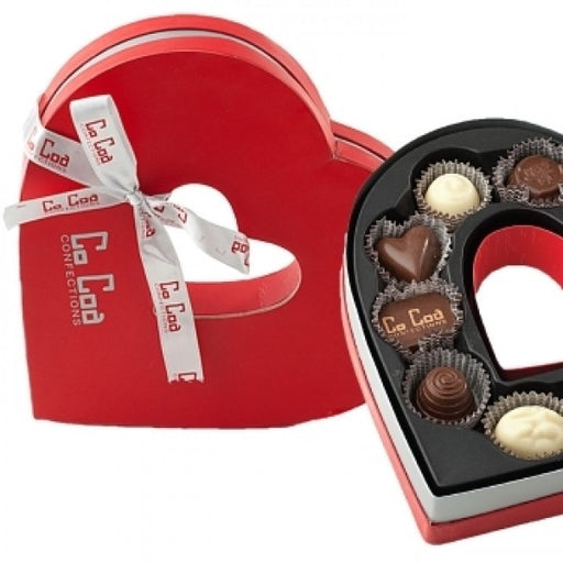 Red Heart Chocolate Gift Box - Chocolate.org