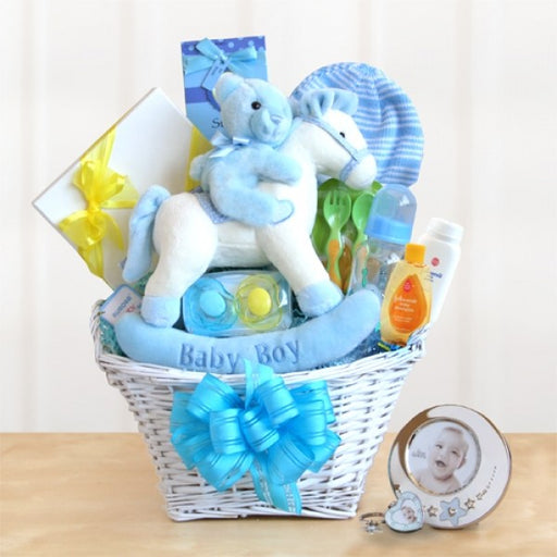 Rocking Baby Boy Gift Basket